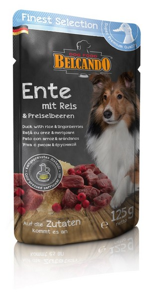 Belcando Finest Selection Ente Паучи Белькандо для собак Утка с рисом и брусникой
