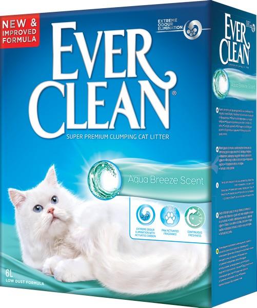 Ever Clean Aqua Breeze Scent - комкующийся наполнитель с ароматом морской свежести 6 л
