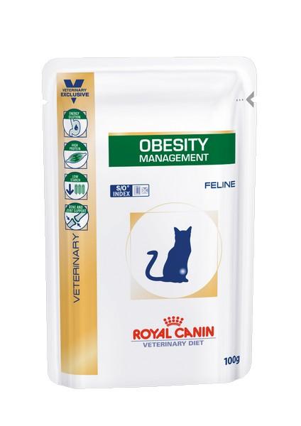 Royal Canin Obesity Management / Ветеринарный влажный корм (Консервы-Паучи) Роял Канин Обесити для кошек Ожирение (цена за упаковку)