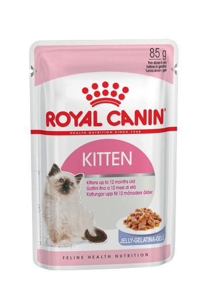 Royal Canin Kitten Instinctive Jelly / Влажный корм (Консервы-Паучи) Роял Канин Киттен Инстинктив для Котят в возрасте от 4 до 12 месяцев в Желе (цена за упаковку)
