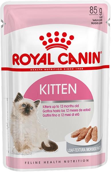 Royal Canin Kitten Instinctive Mousse Pate / Паучи для Котят в возрасте от 4 до 12 месяцев Паштет (цена за упаковку)