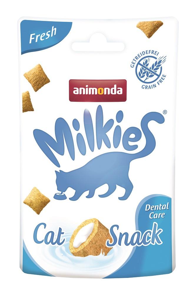 Animonda Milkies Fresh Dental Care / Лакомство для кошек Хрустящие подушечки для Очистки зубов