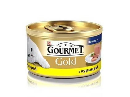 Заказать Gourmet Gold / Паштет для кошек с Курицей Цена за упаковку по цене 370 руб