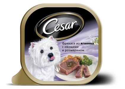 Заказать Cesar Фрикасе ягненок / овощи/розмарин 4*24*100г по цене 1570 руб