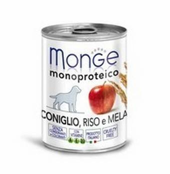 Заказать Monge Dog Monoproteico Fruits / консервы для собак паштет из кролика с рисом и яблоками Цена за упаковку по цене 5950 руб
