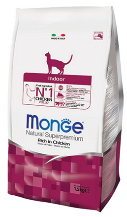 Заказать Monge Cat Indoor / корм для домашних кошек по цене 339 руб