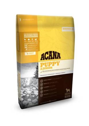 Заказать Acana Heritage 70 / 30 Puppy & Junior Сухой корм  для Щенков и Юниоров всех пород по цене 310 руб