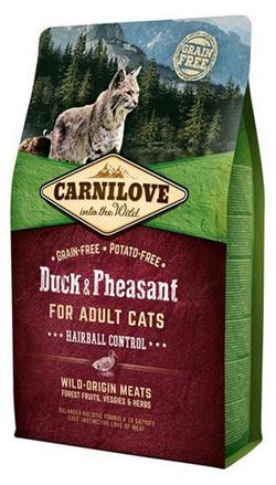 Заказать Brit Carnilove Adult Hairball Control Duck & Pheasant / Сухой корм Карнилав для взрослых кошек Утка и Фазан по цене 350 руб