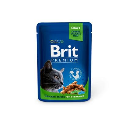 Заказать Brit Premium Sterilized Chicken Slice / Паучи для Стерилизованных кошек Курица Цена за упаковку по цене 970 руб