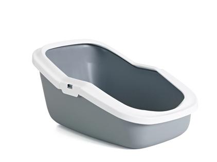 Заказать Savic Aseo / Туалет-лоток для кошек со съемным Бортом Пластиковый 56х39х27,5см по цене 790 руб