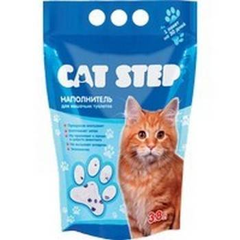Cat Step / Силикагелевый наполнитель Кэт Степ для кошачьего туалета