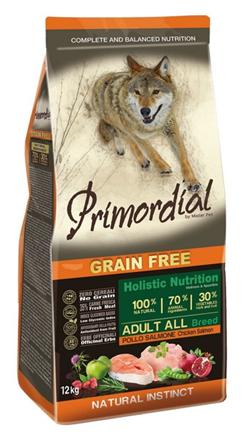 Заказать Primordial Adult Grain Free Holistic / Сухой корм Беззерновой для собак Курица Лосось по цене 1510 руб