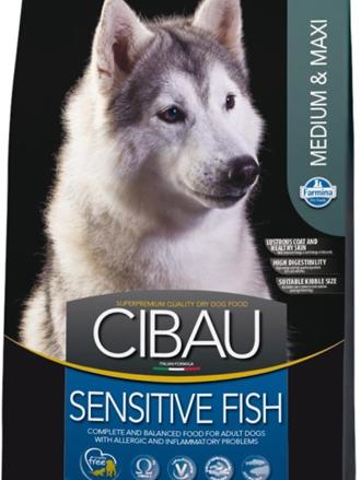 Заказать Farmina Cibau Sensitive Medium & Maxi Fish / Сухой корм для собак Средних и Крупных пород Низкоаллергенный Рыба по цене 1130 руб