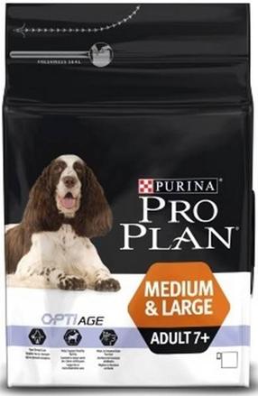 Заказать Purina Pro Plan Medium & Large Adult 7+ / Сухой корм Пурина Про План для взрослых собак Средних и крупных пород старше 7 лет Курица и рис по цене 1180 руб