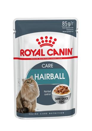 Заказать Royal Canin Hairball Care / Влажный корм (Консервы-Паучи) Роял Канин Хэйрбол Кэа для кошек Вывод волосяных комочков (цена за упаковку) по цене 160 руб