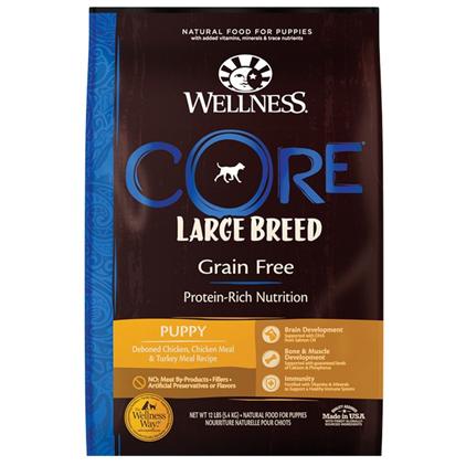 Заказать Wellness Core Puppy Large Breed Grain free Turkey / Сухой Беззерновой корм для Щенков Крупных пород Индейка по цене 1420 руб