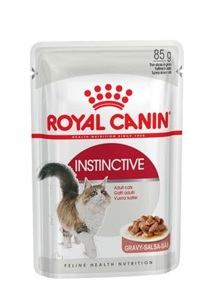 Заказать Royal Canin Instinctive / Влажный корм (Консервы-Паучи) Роял Канин Инстинктив для Взрослых кошек старше 1 года в Соусе (цена за упаковку) по цене 1280 руб
