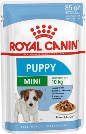 Заказать Royal Canin Mini Puppy / Влажный корм (Паучи) Роял Канин Мини Паппи для Щенков Мелких пород в возрасте от 2 до 10 месяцев (Цена за упаковку) по цене 200 руб