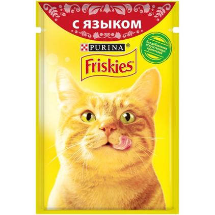 Заказать Friskies / Паучи для кошек с Языком Цена за упаковку по цене 410 руб