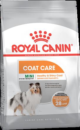 Заказать Royal Canin Mini Coat Care / Сухой корм для собак Мелких пород весом до 10 кг Здоровая и блестящая шерсть по цене 590 руб