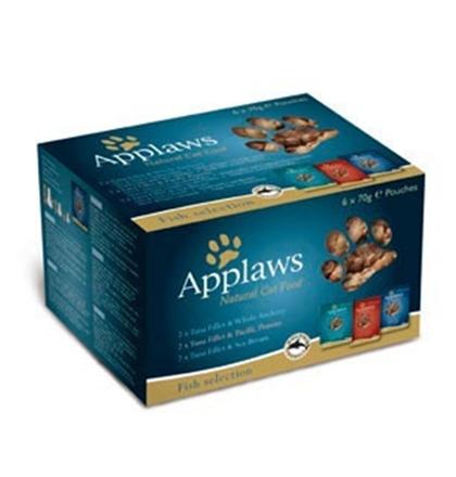 Applaws Fish Selection Pouch / Паучи Эплоус для кошек Рыбное ассорти (цена за упаковку)