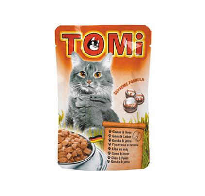 TOMi Goose & Liver / Паучи Томи для кошек Гусь с Печенью (цена за упаковку)
