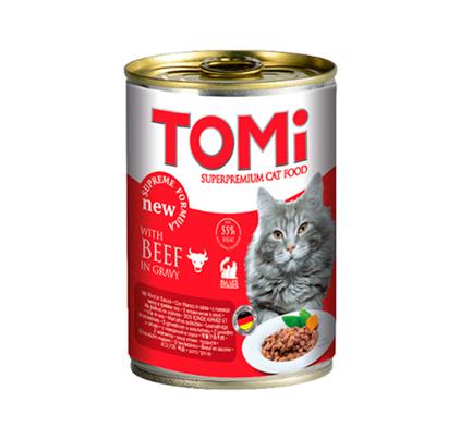 TOMi Beef in gravy / Консервы Томи для кошек Говядина кусочки в соусе (цена за упаковку)