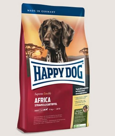 Заказать Happy Dog Supreme Sensible Africa / Сухой корм для собак для Чувствительного пищеварения мясо Страуса (Африка) по цене 2100 руб