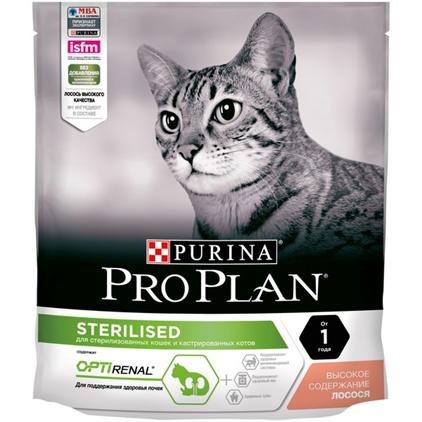 Заказать Purina Pro Plan Sterilised Salmon OptiRenal / Сухой корм Пурина Про План для Стерилизованных кошек для Поддержания здоровья почек Лосось по цене 300 руб