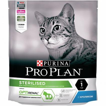 Заказать Purina Pro Plan Sterilised Rabbit OptiRenal / Сухой корм Пурина Про План для Стерилизованных кошек для Поддержания здоровья почек Кролик по цене 280 руб