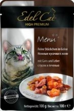 Заказать Edel Cat / Консервы (Влажный корм) нежные кусочки с Гусем и Печенью в Желе Цена за упаковку (20 шт x) по цене 940 руб