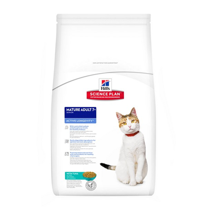 Заказать Hills Science Plan Mature Tuna / Сухой корм для пожилых кошек с Тунцом по цене 1320 руб