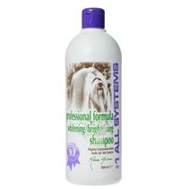 1 All Systems Whitening Shampoo / шампунь отбеливающий для яркости окраса 500 мл