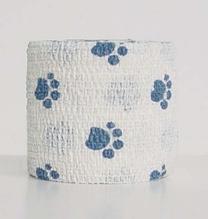 """Заказать Andover PetFlex / бандаж 5 см х 4,5 м """"голубые лапы"""" на белом по цене 150 руб"""