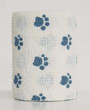 """Заказать Andover PetFlex / бандаж 7,5 см х 4,5 м """"голубые лапы"""" на белом по цене 190 руб"""