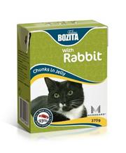Bozita Feline / Консервы Бозита для кошек кусочки в соусе Кролик (цена за упаковку)