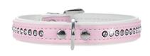 Hunter Smart Modern Luxus / ошейник для собак кожзам 1 ряд страз Розовый