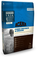 Acana Heritage 60 / 40 Cobb Chicken & Greens Сухой корм  для собак Цыпленок с Зеленью