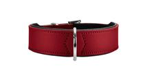 Hunter Basic / ошейник для собак кожа Красно-Черный