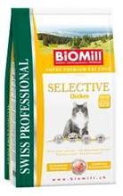 Заказать BioMill Swiss Professional Selective Chicken / Полнорационный отборный корм для взрослых кошек Индейка и Цыпленок по цене 4370 руб