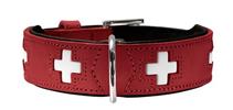 Hunter Swiss / ошейник для собак кожа Красно-Черный