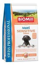 Заказать BioMill Swiss Professional Maxi Sensitive Salmon & Rice / Сухой корм для собак Крупных пород Чувствительное пищеварение Лосось с Рисом по цене 5380 руб