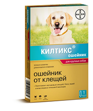 Bayer Килтикс / Ошейник от Клещей для собак Крупных пород