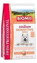 Заказать BioMill Swiss Professional Medium Sensitive Salmon & Rice / Сухой корм для собак Средних пород Чувствительное пищеварение Лосось с Рисом по цене 5530 руб