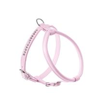 Hunter Round&Soft / шлейка для собак кожа стразы Светло-Розовая