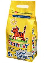 Заказать PrettyCat Super White / Наполнитель для кошачьего туалета Бентонитовый Комкующийся по цене 190 руб