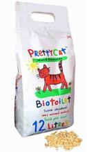 PrettyCat Wood Granules / Наполнитель для кошачьего туалета ПриттиКэт Вуд Гранулс Древесный