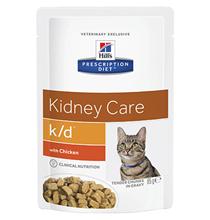 Hills Prescription Diet k\d Kidney Care Chicken / Лечебные паучи Хиллс для кошек при Заболеваниях Почек Курица (цена за упаковку)