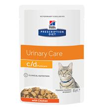 Hills Prescription Diet Feline c\d Multicare Urinary Care Chicken / Лечебные паучи Хиллс для кошек при МКБ Струвиты Курица (цена за упаковку)