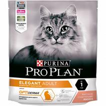 Purina Pro Plan Cat Elegant OptiDerma / Сухой корм Пурина Про План для кошек для Поддержания красоты шерсти и здоровья кожи Лосось